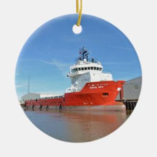 Supply Ship Durga Devi Ceramic Ornament