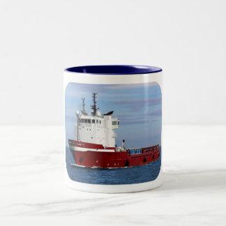 Supply Ship Two-Tone Coffee Mug