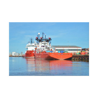 Supply Ships Energy Lord And Durga Devi Canvas Print