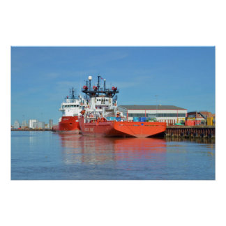 Supply Ships Energy Lord And Durga Devi Poster