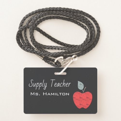 Supply Teachers Apple Business Personalized Badge