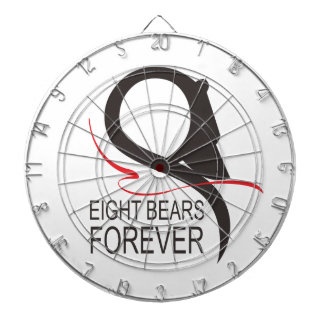 Support 8 Bears Forever Dartboard