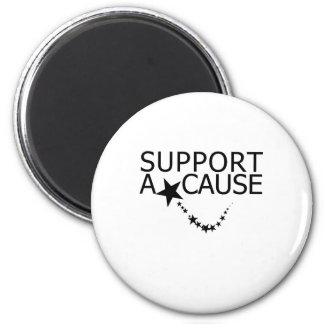 Support A Cause 2 Inch Round Magnet