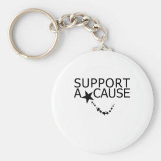 Support A Cause Basic Round Button Keychain
