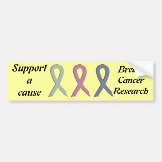 Support a Cause Breast Cancer Research bumper stic Bumper Sticker