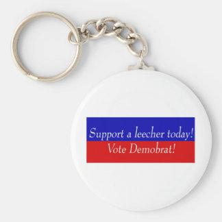 Support a leecher today! Vote Demobrat! Keychain