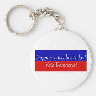 Support a leecher today! Vote Democrat! Keychain