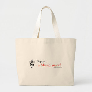 Support a Musicianary Large Tote Bag