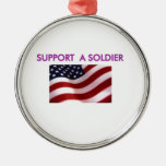 support a soldier ornaments