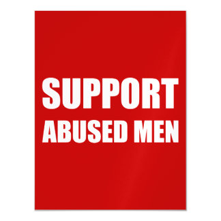 Support Abused Men Magnetic Card