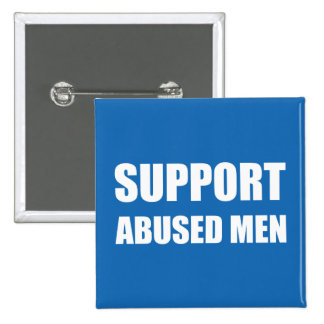 Support Abused Men Pinback Button