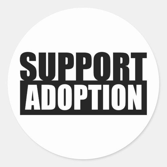Support Adoption Classic Round Sticker