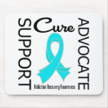 Support Advocate Cure Addiction Recovery Mousepad
