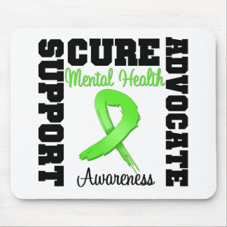 Support Advocate Cure - Mental Health Awareness Mouse Pad