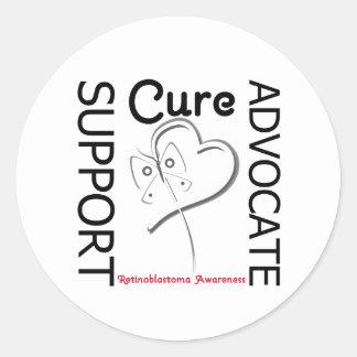 Support Advocate Cure - Retinoblastoma Classic Round Sticker