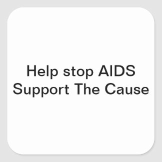 Support AIDS Research Square Sticker