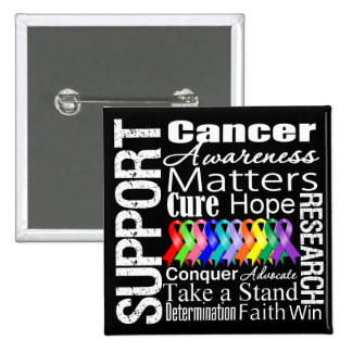 Support All Cancers Awareness 2 Inch Square Button