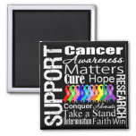 Support All Cancers Awareness Fridge Magnets
