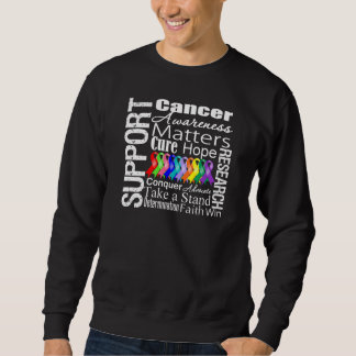 Support All Cancers Awareness Pull Over Sweatshirts