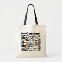 Support All Cancers Awareness Tote Bag