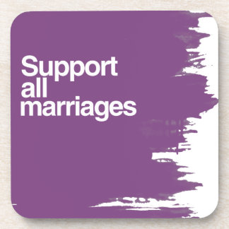 Support All Marriages Drink Coaster
