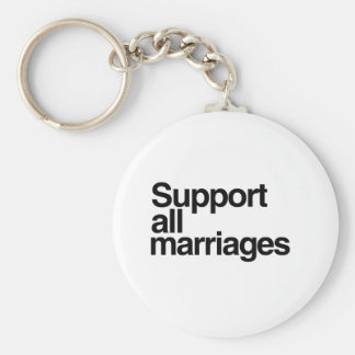 Support All Marriages Keychains