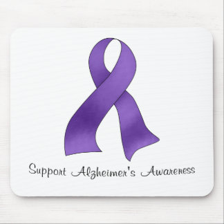 Support Alzheimer's Awareness Mouse Pad