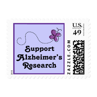 Support Alzheimers Research Butterfly Gift Postage