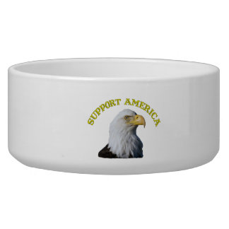 Support America Eagle Pet Bowl