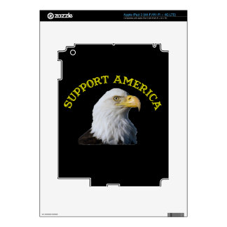 Support America Eagle Zazzle Skin iPad 3 Decals