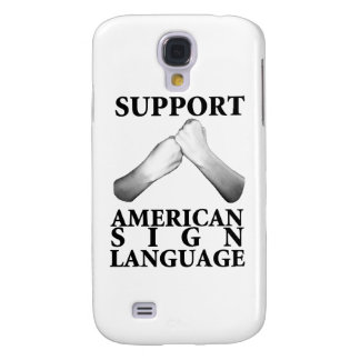 Support American Sign Language (back) (6) Samsung Galaxy S4 Cover