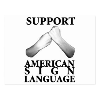 Support American Sign Language (back) Postcard