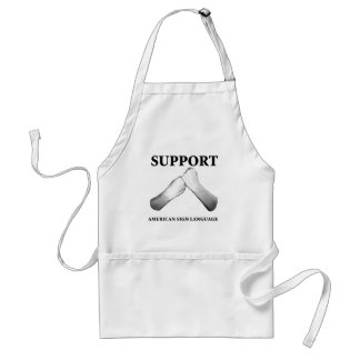 Support American Sign Language (front) (7) Adult Apron
