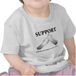 Support American Sign Language (front) (7) Tee Shirts