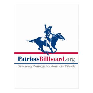 Support American values at PatriotsBillboard.org Postcard