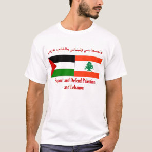 Support and defend Palestine and Lebanon T-Shirt
