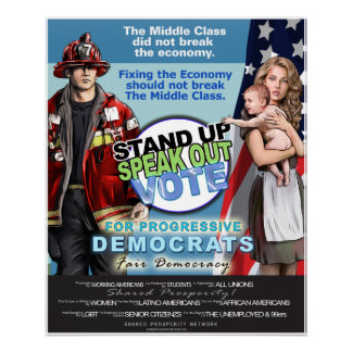 Support and Defend The Middle Class Poster