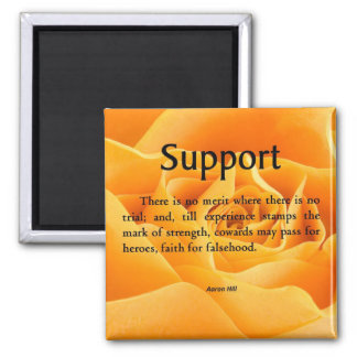 Support and Strength Fridge Magnets