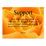 Support and Strength Postcard
