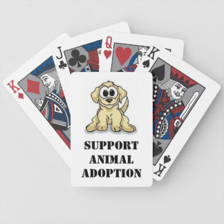 Support Animal Adoption Bicycle Playing Cards