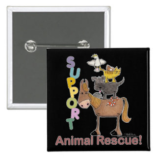 Support Animal Rescue Pinback Buttons