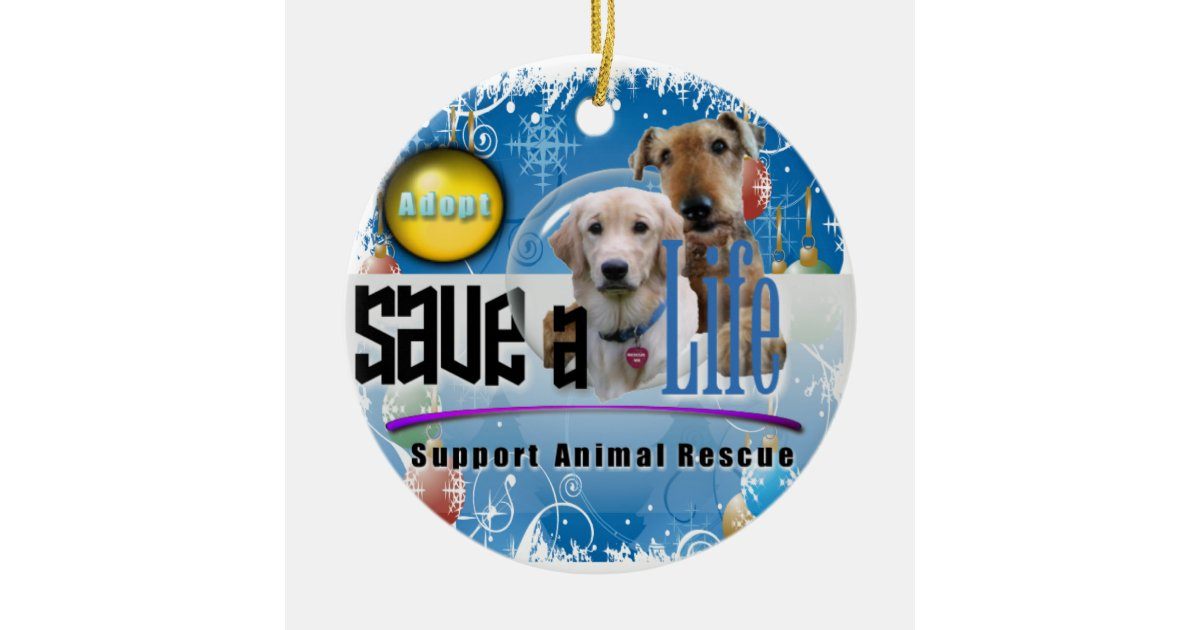 Support Animal Rescue Christmas Ornament Zazzle Com