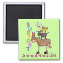 Support Animal Rescue Magnet