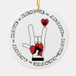 SUPPORT ANIMAL RESCUE ORNAMENT DOG / CAT ASL SIGN