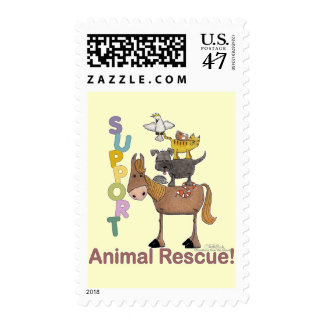Support Animal Rescue Postage