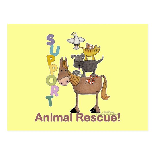 Support Animal Rescue Postcard