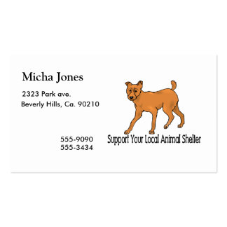 Support Animal Shelters Double-Sided Standard Business Cards (Pack Of 100)