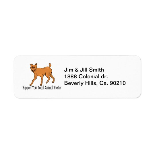 Support Animal Shelters Label