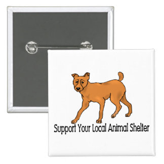 Support Animal Shelters Pinback Button