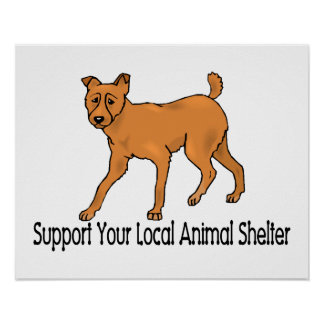 Support Animal Shelters Poster
